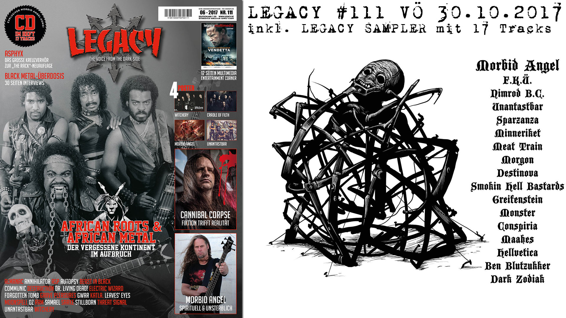 LEGACY #111 OUT 30.10.2017!