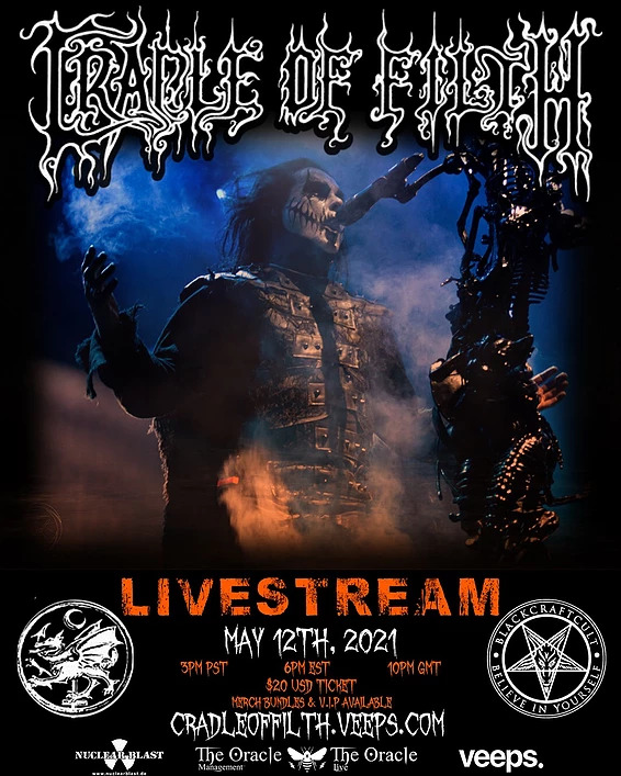 Exklusives CRADLE OF FILTH Live-Stream-Event