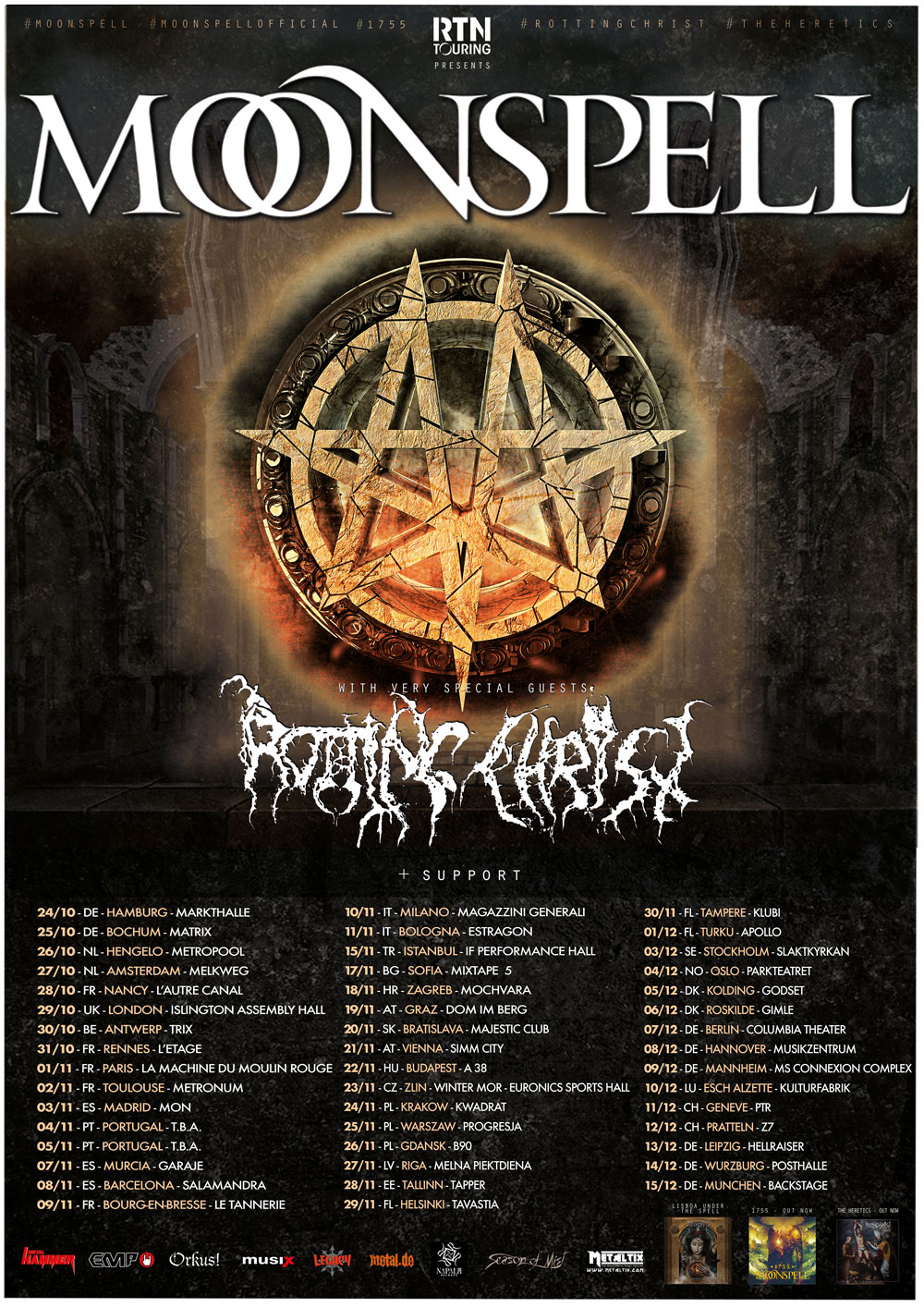 MOONSPELL & ROTTING CHRIST