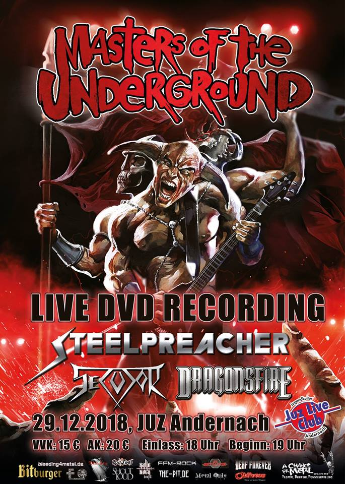 Live-DVD-Recordings in Andernach mit STEELPREACHER, DRAGONSFIRE und SECUTOR