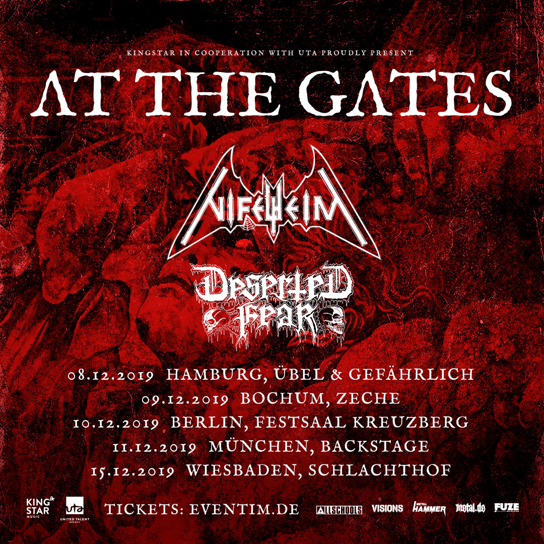 AT THE GATES kündigen Tour mit namhaftem Support an